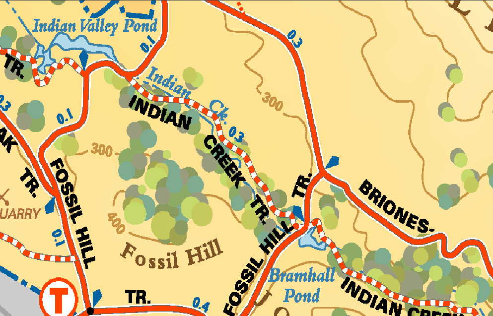 fossil hill trail map